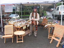 Brookfield Farm Bees And Honey's Beekeeper at Seattle Fremont Market
