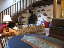 Living room of Mt. Baker house for sale in Snowline community, Glacier Washington