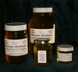 Raw Raw Honey In Glass Jars from Brookfield Farm Bees And Honey, Maple Falls, Washington