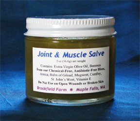 Brookfield Farm Bees And Honey's Beeswax Joint And Muscle Salve