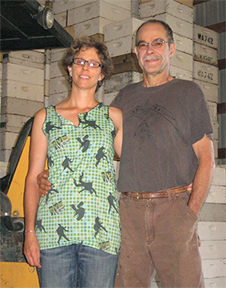 Beekeepers John and Martha Kraus, Kraus Honey Company, in their honey house