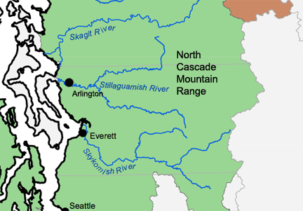 Stillaguamish River Map by By National Oceanic and Atmospheric Administration (NOAA) [Public domain], via Wikimedia Commons
