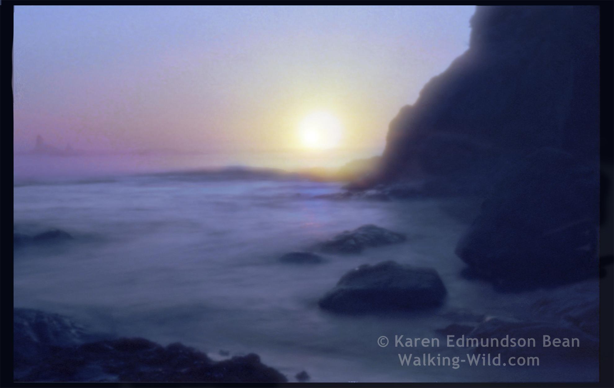 PinholeSunset by Karen Edmundson Bean, Maple Falls, WA